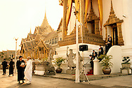 The people of Thailand are mourning the death of the king?s sister. Her picture is everywhere and the people who want to show their respect dress in black or white. Mae Chee Sansanee is at the king?s palace to pay respect...Photographer: Elin Berge / MOMENT