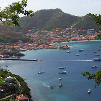 France, Guadeloupe, Les Saintes. Sailing and yachting bay of Les Saintes on Terre-de-Haut island, Guadeloupe.