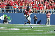 Ole Miss' Nickolas Brassell(2) runs vs. Arkansas at Vaught-Hemingway Stadium in Oxford, Miss. on Saturday, October 22, 2011. .