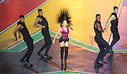 03.08.2014. Glasgow, Scotland. Glasgow Commonwealth Games. Closing Ceremony from Hampden Park. Kylie Minogue performs onstage