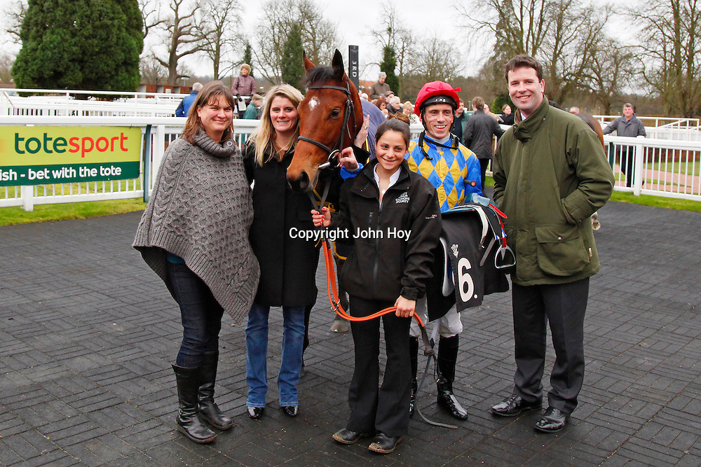 Safari Sunseeker and winning connections in the winners enclosure