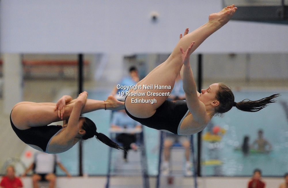 Scottish National Diving Championships &amp; Thistle Trophy 2015<br /> <br /> Free to use <br /> <br /> Royal Commonwealth Pool, Edinburgh<br /> Men's Women's  3m Synchronised Final<br /> <br />  Neil Hanna Photography<br /> www.neilhannaphotography.co.uk<br /> 07702 246823