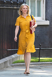 © Licensed to London News Pictures. 23/07/2019. London, UK. Chief Secretary to the Treasury Elizabeth Truss arrives on Downing Street for the final Cabinet meeting under Prime Minister Theresa May. The result of the Conservative Party leadership contest will be announced this morning. Photo credit: Rob Pinney/LNP