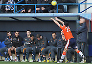 Picture by David Horn/Focus Images Ltd +44 7545 970036.05/01/2013.Stale Solbakken, Manager of Wolverhampton Wanderers looks on whilst Ron Henry of Luton Town takes a throw in during the The FA Cup match at Kenilworth Road, Luton.