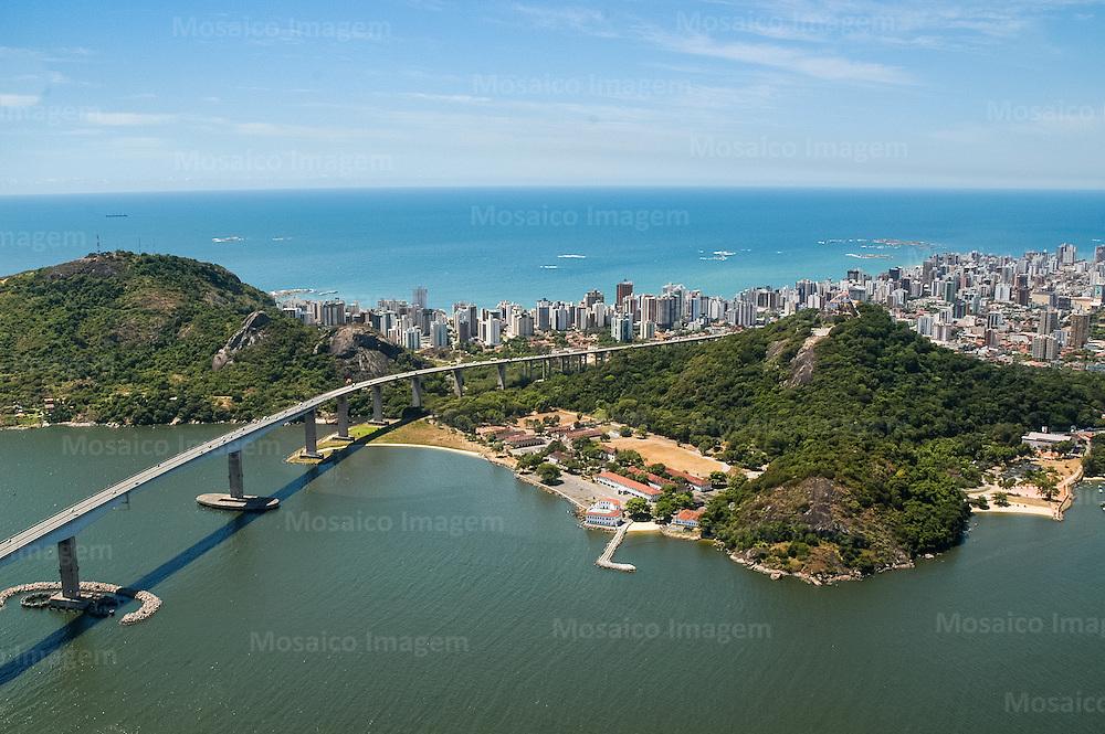 Brasil - Espirito Santo - Vila Velha - Vista aerea da Terceira Ponte e Convento da Penha - Foto: Gabriel Lordello/ Mosaico Imagem