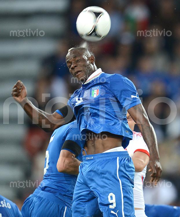 FUSSBALL INTERNATIONAL  EM 2012 Testspiel 01.06.2012 Italien - Russland  Mario Balotelli (Italien)