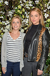 Left to right, OCTAVIA GRAY and INDIA WHALLEY at The Ivy Kensington Brasserie International Women's Day & Terrace Launch Party held at The Ivy Kensington Brasserie, 96 Kensington High Street, London on 8th March 2016.