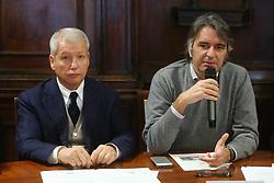 MAURO FABRIS E FEDERICO SBOARINA SINDACO DI VERONA<br /> CONFERENZA DI PRESENTAZIONE FINAL FOUR COPPA ITALIA PALLAVOLO FEMMININILE A VERONA<br /> VERONA 25-01-2019<br /> FOTO FILIPPO RUBIN / LVF