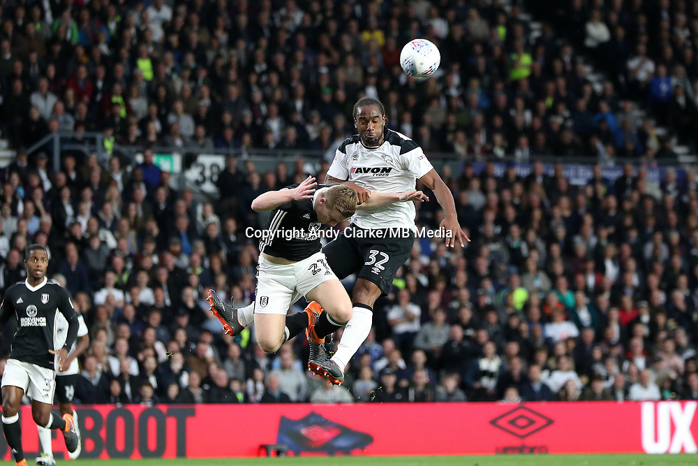 DERBY, ENGLAND - MAY 11: - DCFC vs Fulham. Cameron Jerome, scores the opening goal for Derby
