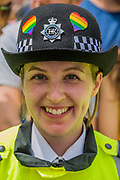TThe police join in - he annual London Gay Pride march heads from Oxford Circus to Trafalgar Square.