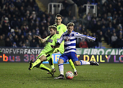 Matej Vydra of Reading completes his hat-trick against Huddersfield Town in The FA Cup Third Round Replay - Mandatory byline: Robbie Stephenson/JMP - 19/01/2016 - FOOTBALL - Madejski Stadium - Reading, England - Reading v Huddersfield - FA Cup Third Round