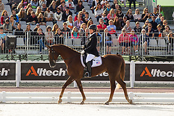 Roxanne Trunnell, (USA), Nice Touch - Freestyle Grade Ia Para Dressage - Alltech FEI World Equestrian Games™ 2014 - Normandy, France.<br /> © Hippo Foto Team - Leanjo de Koster<br /> 25/06/14