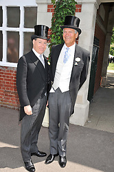 Left to right, VISCOUNT LINLEY and CHARLES DELEVINGNE at day 1 of the Royal Ascot Racing Festival 2012 held on 19th June 2012.