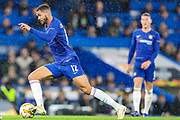 Chelsea midfielder Ruben Loftus-Cheek (12) heads upfield during the Champions League group stage match between Chelsea and PAOK Salonica at Stamford Bridge, London, England on 29 November 2018.