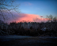 Colorful clouds at sunset after a quick snowstorm. Winter Nature in New Jersey. Image taken with a Leica T camera and 18-56 mm lens (ISO 100, 29 mm, f/4.4, 1/125 sec)