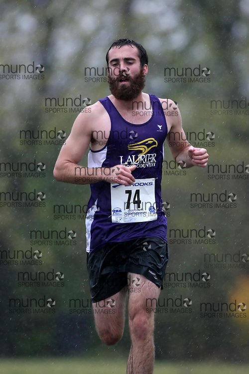(Kingston, ON---25 October 2008) Brent Meidinger of LAURIER University running to finish 69 in the 2008 Ontario University Athletics men's cross country championship.  Photograph copyright Sean Burges/Mundo Sport Images (www.msievents.com).