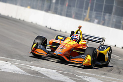July 13, 2018 - Toronto, Ontario, Canada - ZACH VEACH (26) of the United Stated takes to the track to practice for the Honda Indy Toronto at Streets of Exhibition Place in Toronto, Ontario. (Credit Image: © Justin R. Noe Asp Inc/ASP via ZUMA Wire)