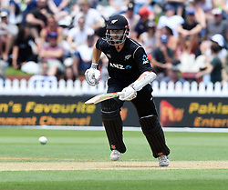 New Zealand's Kane Williamson takes a run against Pakistan in the first one day cricket international at the Basin Reserve, Wellington, New Zealand, Saturday, January 06, 2018. Credit:SNPA / Ross Setford  **NO ARCHIVING**