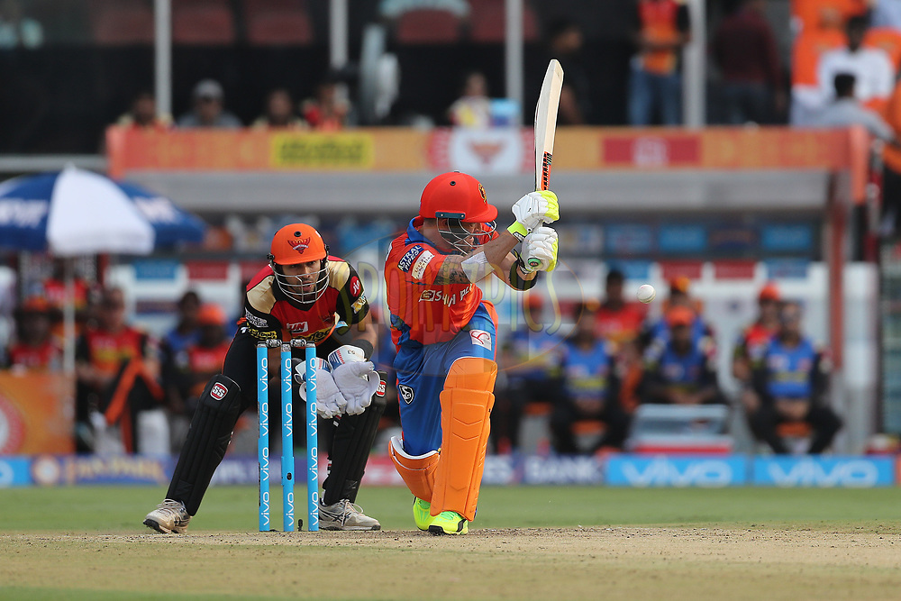 Brendon McCullum of the Gujarat Lions during match 6 of the Vivo 2017 Indian Premier League between the Sunrisers Hyderabad and the Gujarat Lions held at the Rajiv Gandhi International Cricket Stadium in Hyderabad, India on the 9th April 2017<br /> <br /> Photo by Ron Gaunt - IPL - Sportzpics