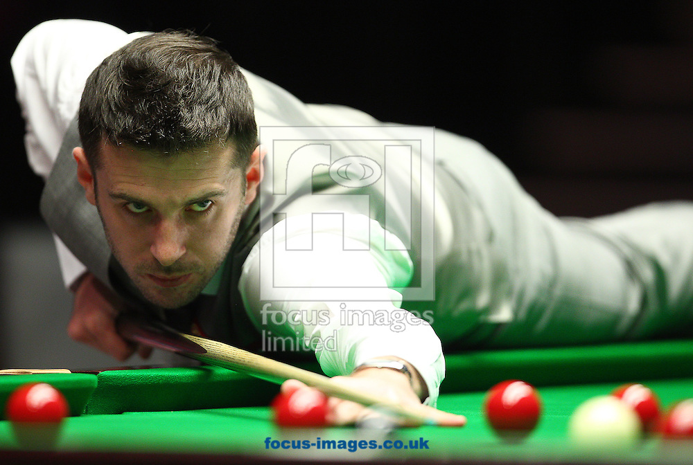 Picture by Paul Terry/Focus Images Ltd +44 7545 642257<br /> 18/01/2014<br /> Mark Selby plays a shot during the The Masters semi final at Alexandra Palace, London.
