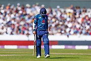 England ODI all rounder Sam Curran is given out on review  during the 5th One Day International match between England and Australia at Old Trafford, Manchester, England on 24 June 2018. Picture by Simon Davies.