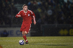 BRISTOL, ENGLAND - Thursday, January 15, 2009: Liverpool's Jack Metcalf in action against Bristol Rovers during the FA Youth Cup match at the Memorial Stadium. (Mandatory credit: David Rawcliffe/Propaganda)