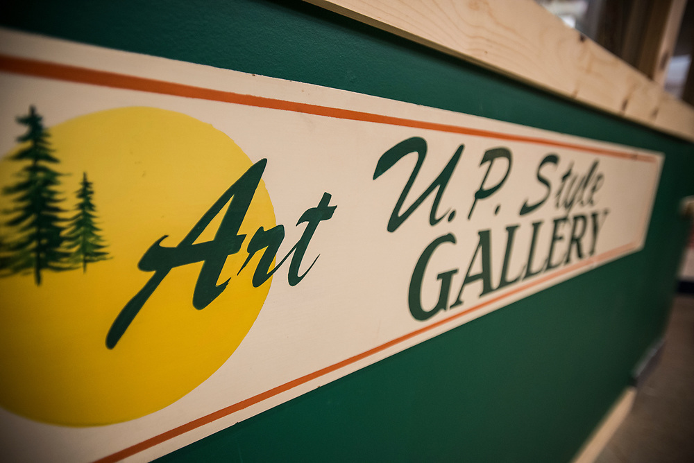 Art UP Style gallery in the Masonic Square building, downtown Marquette, Michigan.