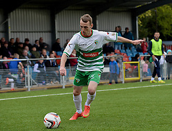 NEWTOWN, WALES - Saturday, May 2, 2015: The New Saints' Jamie Mullan in action against Newtown during the FAW Welsh Cup final match at Latham Park. (Pic by Ian Cook/Propaganda)