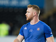 Bath Rugby's Will Hurrell during the pre match warm up<br /> <br /> Photographer Simon King/Replay Images<br /> <br /> Anglo-Welsh Cup Round 4 - Ospreys v Bath Rugby - Friday 2nd February 2018 - Liberty Stadium - Swansea<br /> <br /> World Copyright © Replay Images . All rights reserved. info@replayimages.co.uk - http://replayimages.co.uk