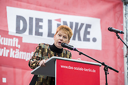 September 9, 2017 - Berlin, Germany - Vice President of Bundestag Petra Pau (Die Linke) speaks at a pre-election party event at Herrmannplatz in Neukoelln in Berlin, Germany on September 9, 2017. (Credit Image: © Emmanuele Contini/NurPhoto via ZUMA Press)