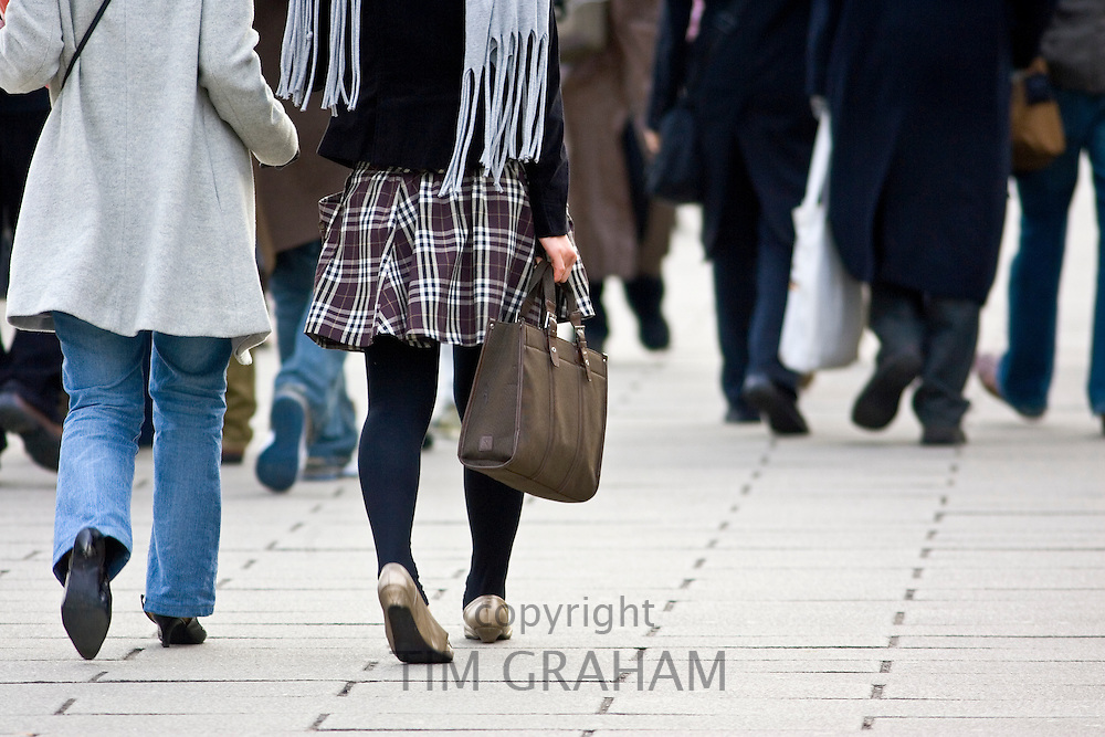 Commuters in London, England, United Kingdom