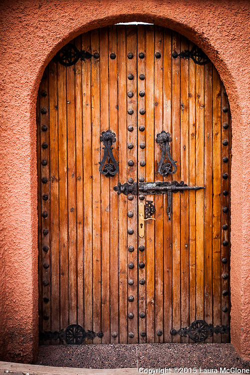 Moroccan Doorway with wood, stucco, Morocco