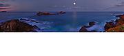 moon rising over Broken Head NSW