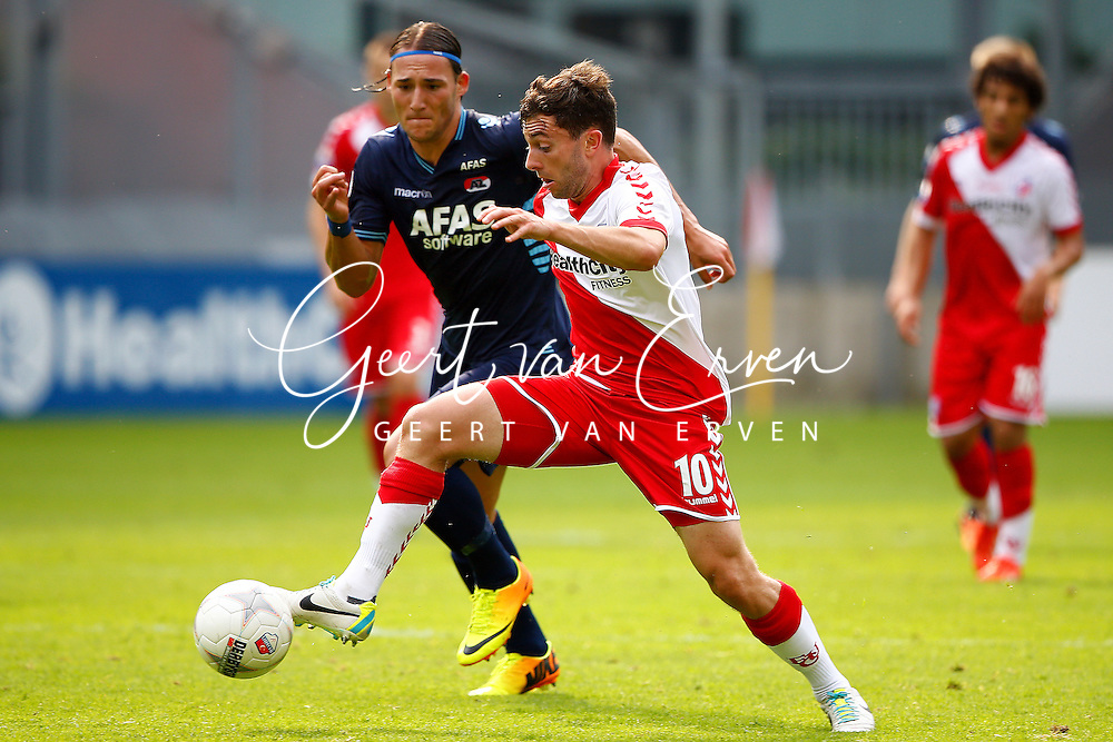 Onderwerp/Subject: FC Utrecht - AZ Alkmaar - Eredivisie<br /> Reklame:  <br /> Club/Team/Country: <br /> Seizoen/Season: 2013/2014<br /> FOTO/PHOTO: Tommy OAR ( Thomas Michael OAR ) (R) of FC Utrecht in duel with Nemanja GUDELJ (L) of AZ Alkmaar. (Photo by PICS UNITED)<br /> <br /> Trefwoorden/Keywords: <br /> #04 $94 &plusmn;1371811811150<br /> Photo- &amp; Copyrights &copy; PICS UNITED <br /> P.O. Box 7164 - 5605 BE  EINDHOVEN (THE NETHERLANDS) <br /> Phone +31 (0)40 296 28 00 <br /> Fax +31 (0) 40 248 47 43 <br /> http://www.pics-united.com <br /> e-mail : sales@pics-united.com (If you would like to raise any issues regarding any aspects of products / service of PICS UNITED) or <br /> e-mail : sales@pics-united.com   <br /> <br /> ATTENTIE: <br /> Publicatie ook bij aanbieding door derden is slechts toegestaan na verkregen toestemming van Pics United. <br /> VOLLEDIGE NAAMSVERMELDING IS VERPLICHT! (&copy; PICS UNITED/Naam Fotograaf, zie veld 4 van de bestandsinfo 'credits') <br /> ATTENTION:  <br /> &copy; Pics United. Reproduction/publication of this photo by any parties is only permitted after authorisation is sought and obtained from  PICS UNITED- THE NETHERLANDS