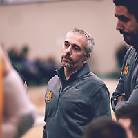 Men's basketball assistant coach, Wade Hackl during the Men's Basketball Home Game on Fri Nov 02 at Centre for Kinesiology,Health and Sport. Credit: Arthur Ward/Arthur Images
