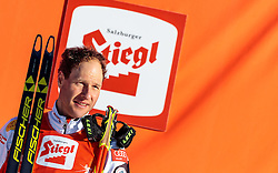 29.01.2017, Casino Arena, Seefeld, AUT, FIS Weltcup Nordische Kombination, Seefeld Triple, Siegerehrung, 3. Tag, im Bild Bernhard Gruber (AUT, 3. Platz) // 3rd placed Bernhard Gruber of Austria celebrates on Podium after the 3rd Day of the FIS Nordic Combined World Cup Seefeld Triple at the Casino Arena in Seefeld, Austria on 2017/01/29. EXPA Pictures © 2017, PhotoCredit: EXPA/ JFK