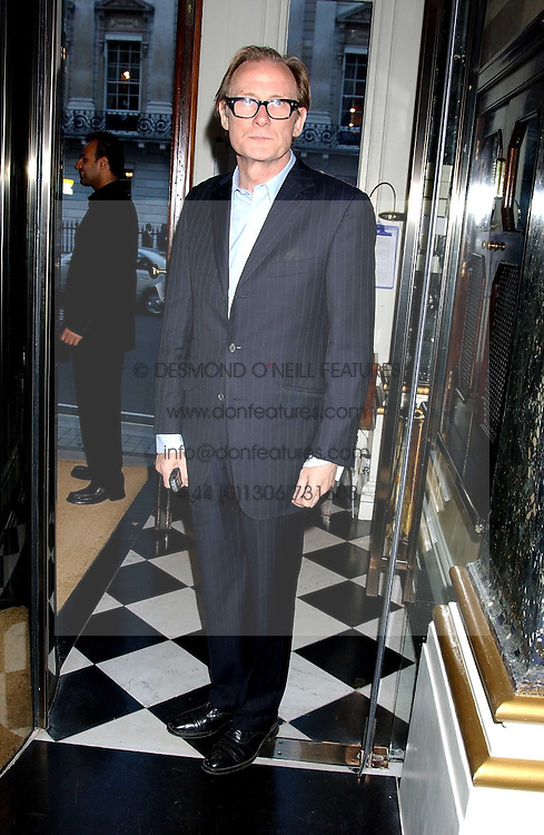 Actor BILL NIGHY at a party to celebrate the publication of 'Everything I Know About Men I Learnt From My Dog' by Clare Staples held at Fifty, St.James's, London on 7th September 2005.<br />
