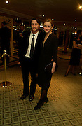 James McAvoy and Anne-Marie Duff. 25th  annual Awards of the London critic's Circle in aid of the NSPCC. The Dorchester. Park Lane. London. 9 February 2005. ONE TIME USE ONLY - DO NOT ARCHIVE  © Copyright Photograph by Dafydd Jones 66 Stockwell Park Rd. London SW9 0DA Tel 020 7733 0108 www.dafjones.com