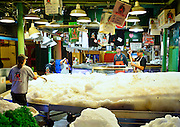 Seattle's Pike Place Fish Market at Dawn - Getting the Ice Ready for the Day