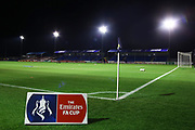 Automated Technology Group Stadium and FA Cup sign before the The FA Cup match between Solihull Moors and Rotherham United at the Automated Technology Group Stadium, Solihull, United Kingdom on 2 December 2019.