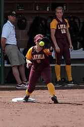 09 May 2014:  Jacquelyn Murphy during an NCAA Missouri Valley Conference (MVC) Championship series women's softball game between the Loyola Ramblers and the Illinois State Redbirds on Marian Kneer Field in Normal IL