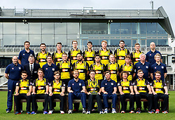 Gloucestershire CCC pose for a team picture in their Royal London One Day kit and the Trophy they won in the 2015 season - Mandatory by-line: Robbie Stephenson/JMP - 04/04/2016 - CRICKET - Bristol County Ground - Bristol, United Kingdom - Gloucestershire  - Gloucestershire Media Day