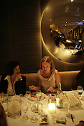 Bianca Jagger and Natalia Vodianova, Natalia Vodianova and Elle Macpherson host a dinner in honor of Francisco Costa (creative Director for women) and Italo Zucchelli (creative director for men)  of Calvin Klein. Locanda Locatelli, 8 Seymour St. London W1. ONE TIME USE ONLY - DO NOT ARCHIVE  © Copyright Photograph by Dafydd Jones 66 Stockwell Park Rd. London SW9 0DA Tel 020 7733 0108 www.dafjones.com