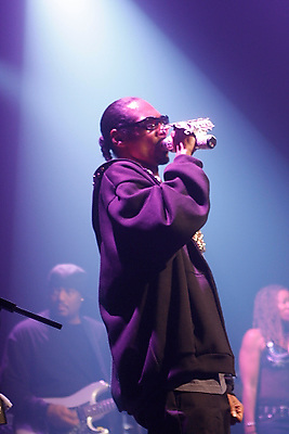 Snoop Dogg performing at The Blender Theater at Gramercy on March 11, 2008.
