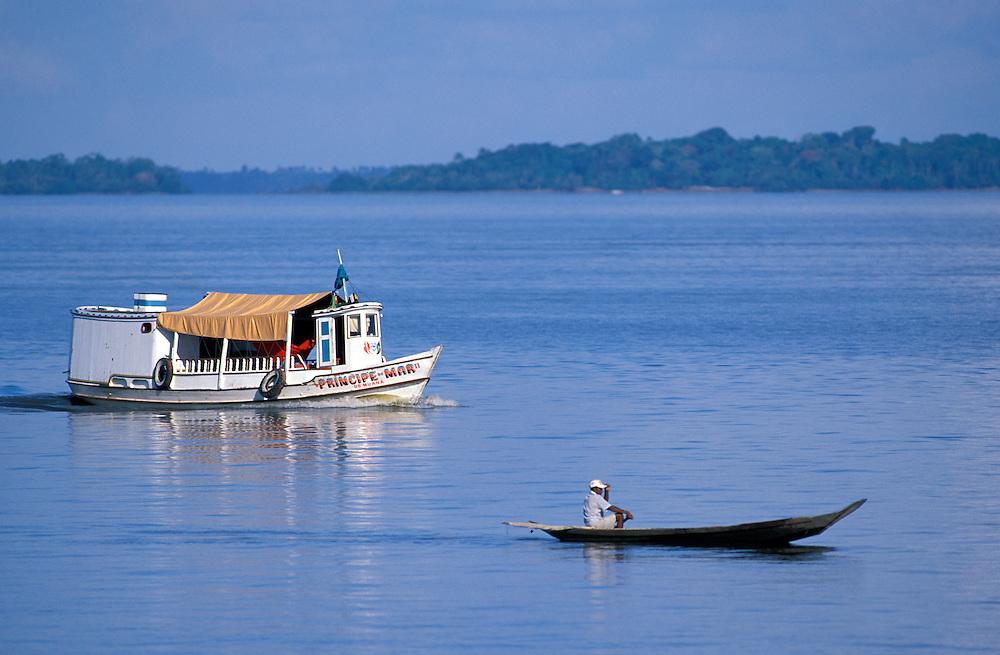 along Amazon River near Ilha do Marajo, Amazon Delta, Amazonia, Brazil