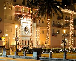 St. Augustine, Florida, Nights of Lights, 2017.  Casa Monica Resort & Spa, Cordova Street.