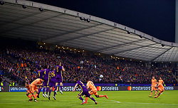 MARIBOR, SLOVENIA - Tuesday, October 17, 2017: Liverpool's Philippe Coutinho Correia takes a free-kick during the UEFA Champions League Group E match between NK Maribor and Liverpool at the Stadion Ljudski vrt. (Pic by David Rawcliffe/Propaganda)