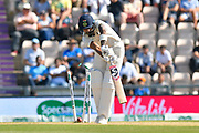 Wicket - KL Rahul of India is bowled by Stuart Broad of England during the 4th day of the 4th SpecSavers International Test Match 2018 match between England and India at the Ageas Bowl, Southampton, United Kingdom on 2 September 2018.