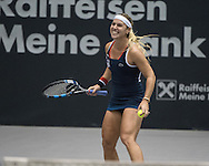 Dominika Cibulkova (SVK) during the semi finals of the WTA Generali Ladies Linz Open at TipsArena, Linz<br /> Picture by EXPA Pictures/Focus Images Ltd 07814482222<br /> 15/10/2016<br /> *** UK &amp; IRELAND ONLY ***<br /> <br /> EXPA-REI-161015-5013.jpg