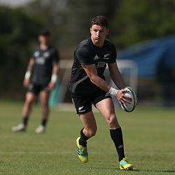 PRETORIA, SOUTH AFRICA - OCTOBER 05: Beauden Barrett of the New Zealand (All Blacks) during the Rugby Championship New Zealand All Blacks captain's run at St David's Marist Inanda 36 Rivonia Rd, Sandown, Sandton,on October 5, 2018 in Pretoria, South Africa. (Photo by Steve Haag/Getty Images)